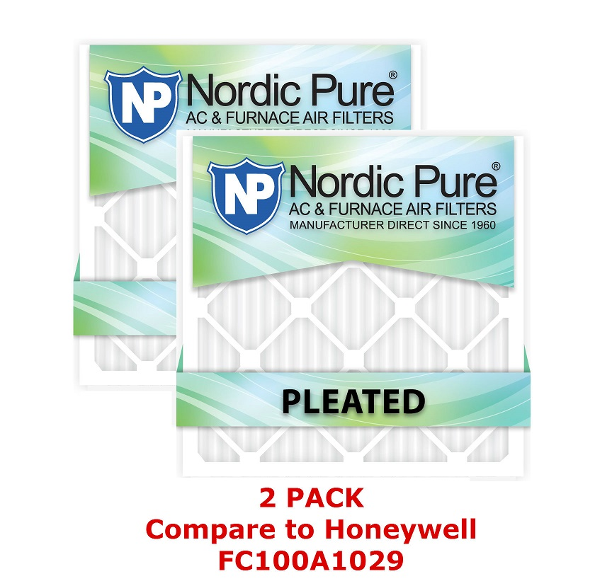 Nordic Pure 16x25x5 Honeywell Replacement Air Filter 2 Pack