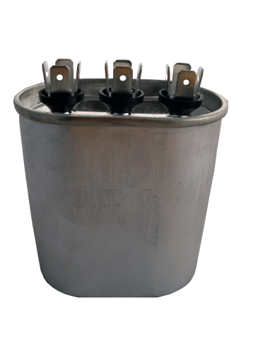 Dual Run Capacitor Oval 440 Volt 55+5 mfd CD55+5X440