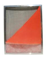 Metal Filter Frame with 6 Orange Tacky Pads 25 x 25 x 1