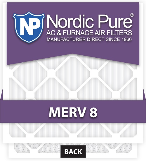 Nordic Pure 1 Inch Air Filters NP18251M8-6