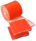 6 Pack of Custom Replacement Orange Media Filter Pads 1 Inch