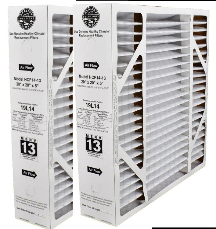 Lennox MERV 13 Healthy Climate Filter 19L14 2 Pack