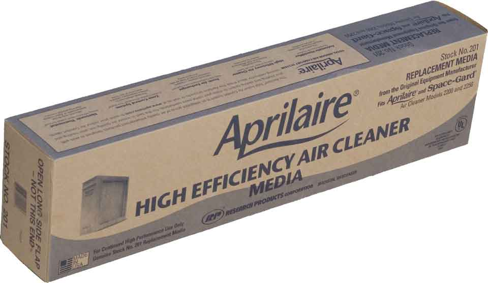 Aprilaire / Space-Gard #201 Replacement Filter