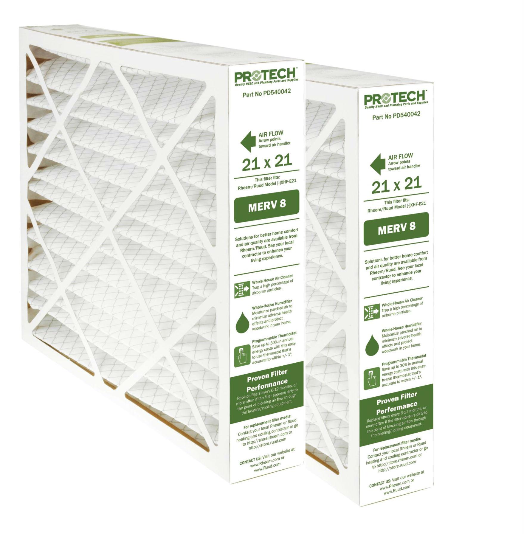 Protech MERV 8 Rheem-Ruud Replacement Filter 540042 2 Pk