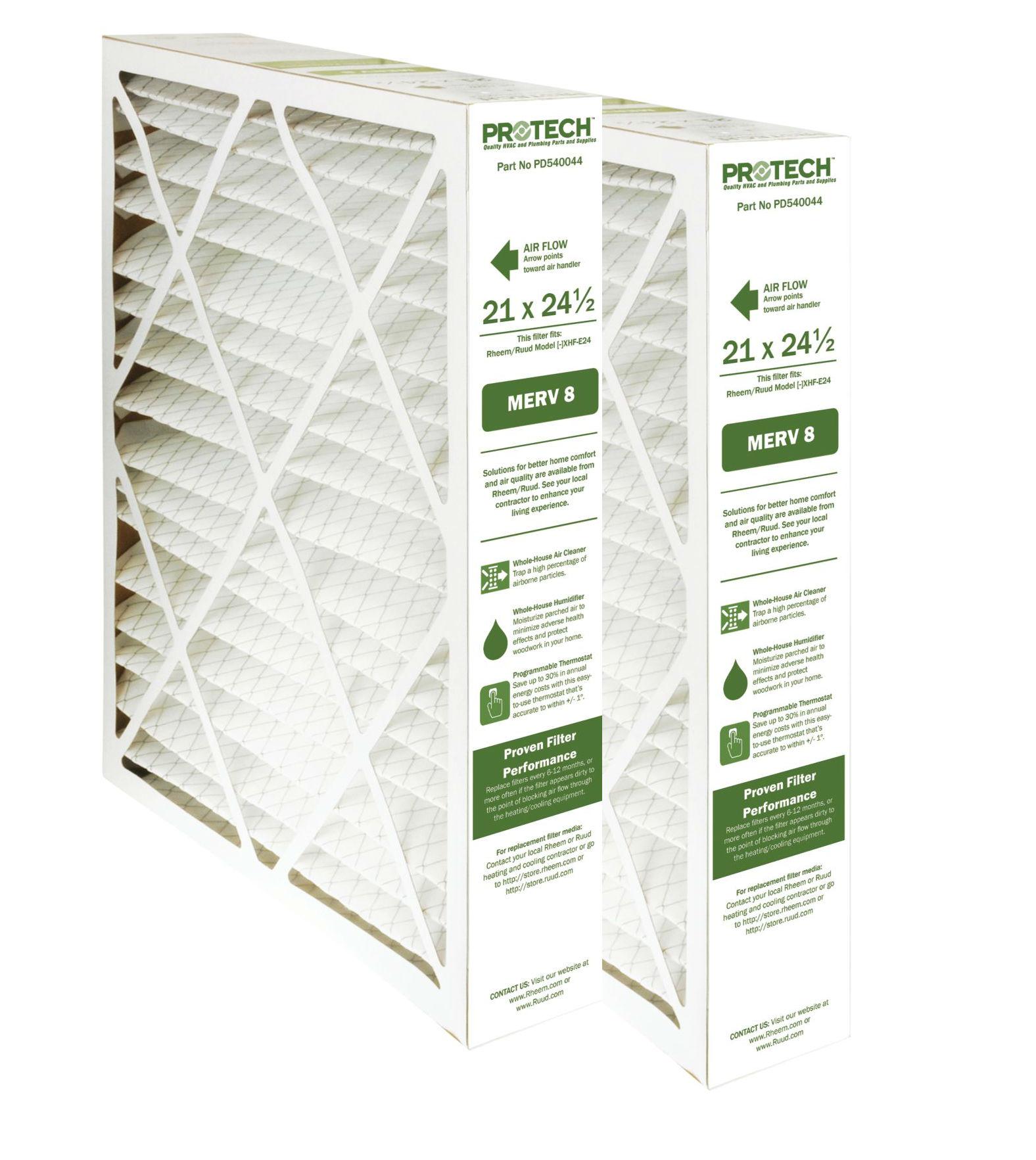 Protech MERV 8 Rheem-Ruud Replacement Filter 540044 2 Pk